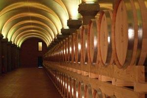 Reifekeller der Distillerie Berta