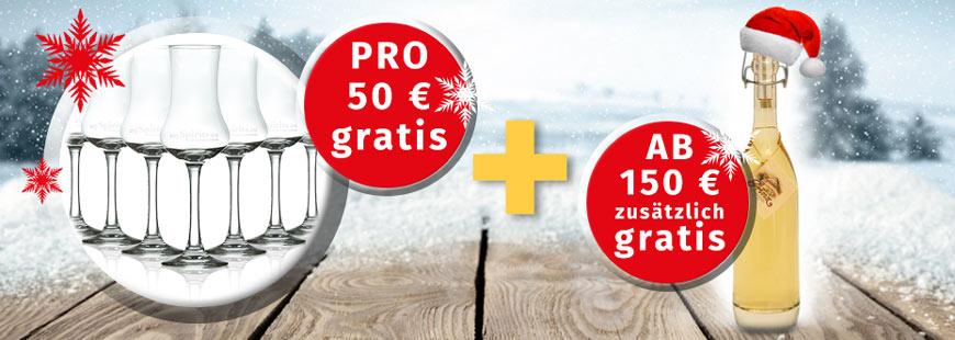 Gratisversand ab 50 €, 5 % Rabatt und dazu Geschenk ab 150 €