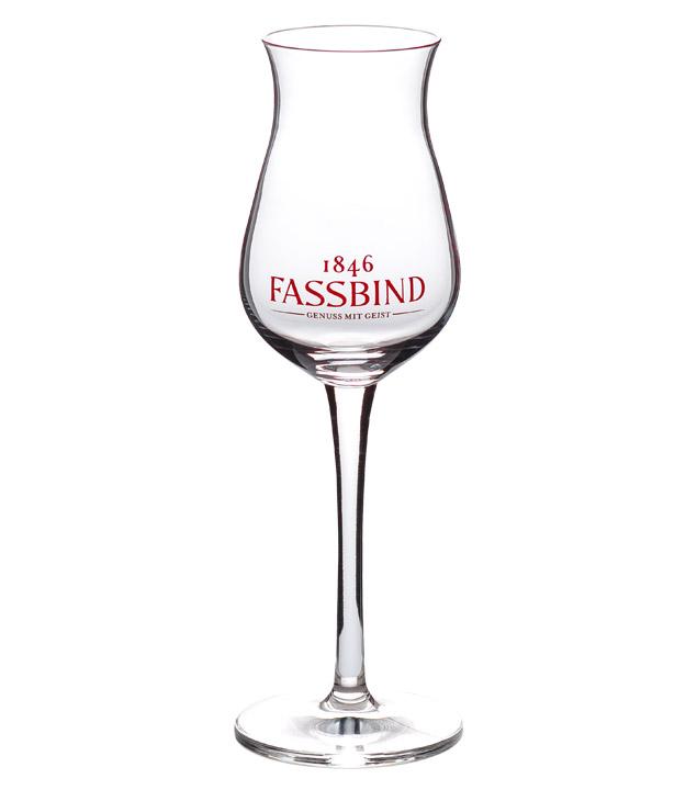 Fassbind Kelch-Glas - Degustationsglas / Schnaps-Glas Eichstrich 4 cl