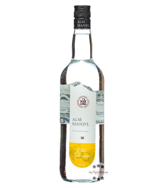 Alm Mand'l Obst Schnaps / 35 % Vol. / 1,0 Liter...