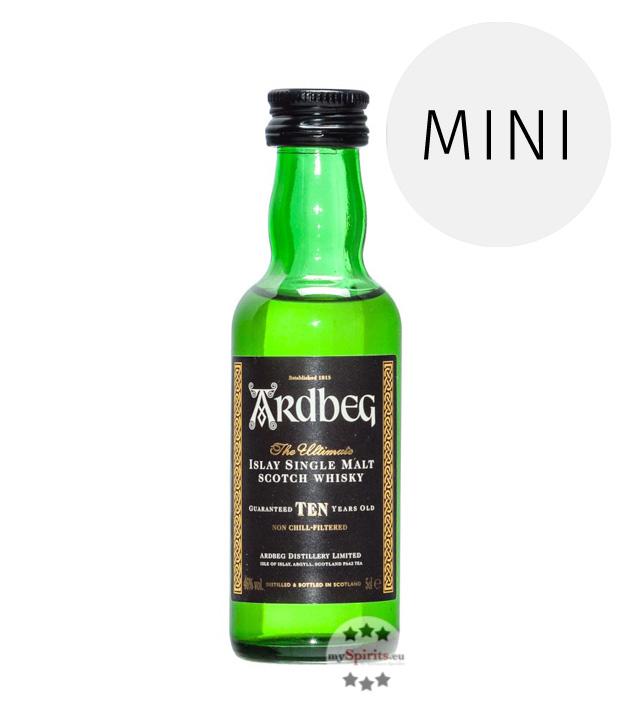 Ardbeg Ten 10 Jahre Islay Single Malt Scotch Whisky Miniatur / 46 % Vol. / 0,05 Liter-Flasche