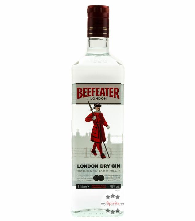 Beefeater London Dry Gin - Klassischer Gin aus England / 40 % vol. 1 Liter-Flasche