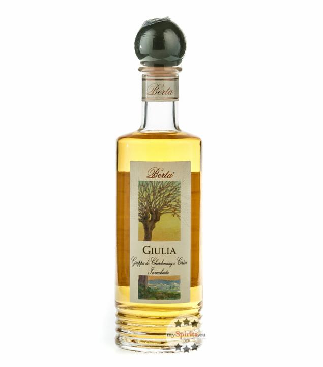 Distillerie Berta Giulia - Grappa di Chardonnay e Cortese Invecchiata / 40 % vol. / 0,2 L Flasche
