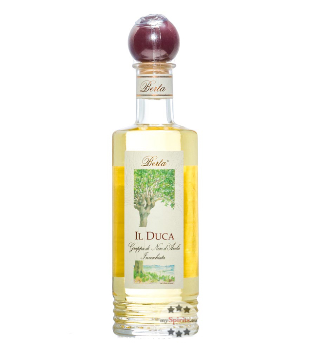 Berta Grappa Il Duca Nero d'Avola Invecchiata / 40 % Vol. / 0,2 Liter-Flasche