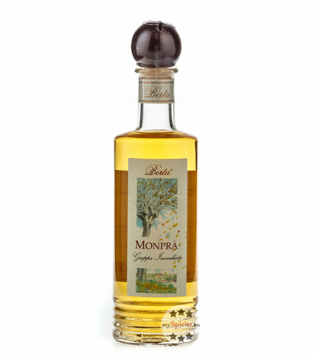 Distillerie Berta Monprà – Grappa Invecchiata / 40 % vol. / 0,2 Liter-Flasche