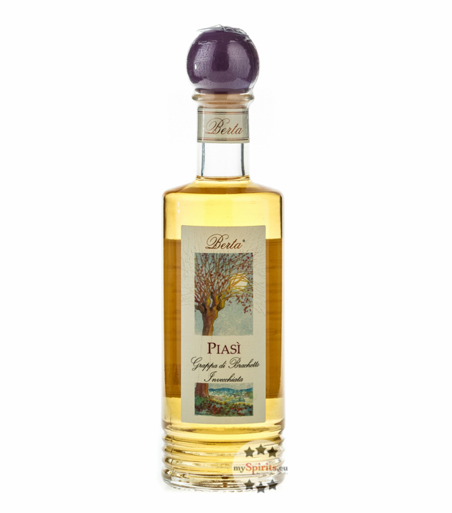 Distillerie Berta Piasì – Grappa di Brachetto Invecchiata / 40 % vol. / 0,2 Liter-Flasche