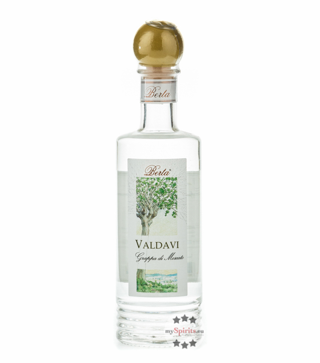 Distillerie Berta Valdavi - Grappa di Moscato / 40 % vol. / 0,2 Liter-Flasche