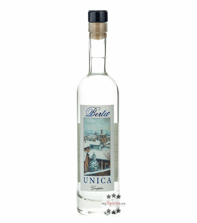Distillerie Berta Unica Grappa / 43 % vol. / 0,2 Liter-Flasche im Geschenk-Karton