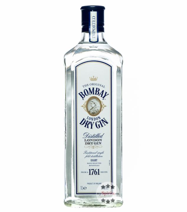 Bombay Sapphire Gin - London Dry Gin / 37,5% vol. / 1,0 Liter-Flasche