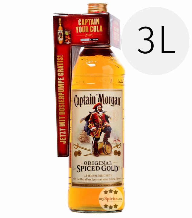 Spiced Gold / 35 % Vol. / 3,0 Liter-Flasche mit Pumpspender