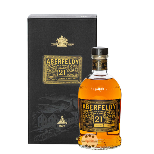 Aberfeldy 21 Years Highland Single Malt Scotch Whisky / 40 % Vol. / 0,7 Liter-Flasche in Geschenkbox