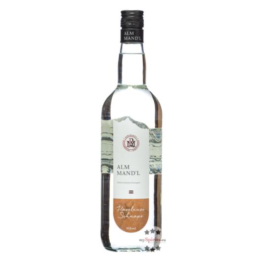 Alm Mand'l Haselnuss-Schnaps / 35 % Vol. / 1,0 Liter-Flasche