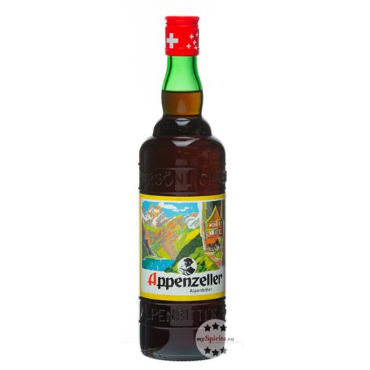 Appenzeller Alpenbitter Kräuterlikör / 29 % Vol. / 0,7 Liter-Flasche