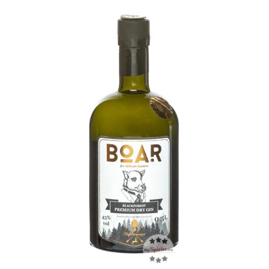 Boar Gin Blackforest Premium Dry Gin / 43 % Vol. / 0,5 Liter-Flasche