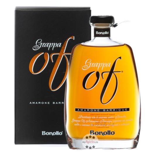 Bonollo: Grappa of Amarone Barrique / 42 % Vol. / 0,7 Liter-Flasche in Geschenkkarton