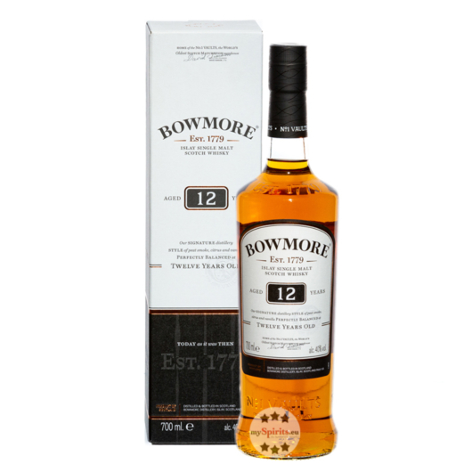 Bowmore 12 Years Old Islay Single Malt Scotch Whisky / 40 % Vol. / 0,7 Liter-Flasche