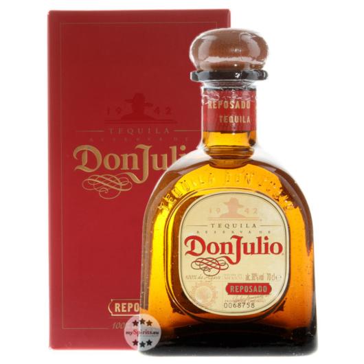 Don Julio Reposado Tequila / 38 % Vol. / 0,7 Liter-Flasche im Karton