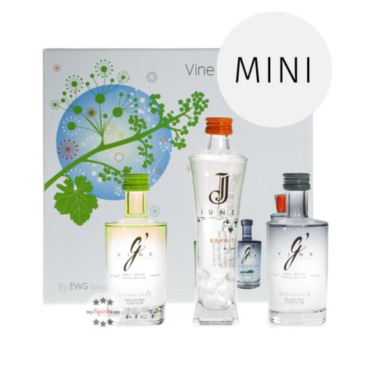 G'Vine Flower Probierset - 3 Sorten Gin in Probiergröße als Geschenkset in Deko-Box / 3 x 0,05l