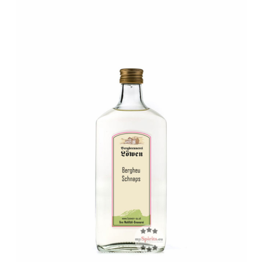 Löwen: Berg Heu-Schnaps  / 40% Vol. / 0,2 Liter - Flasche