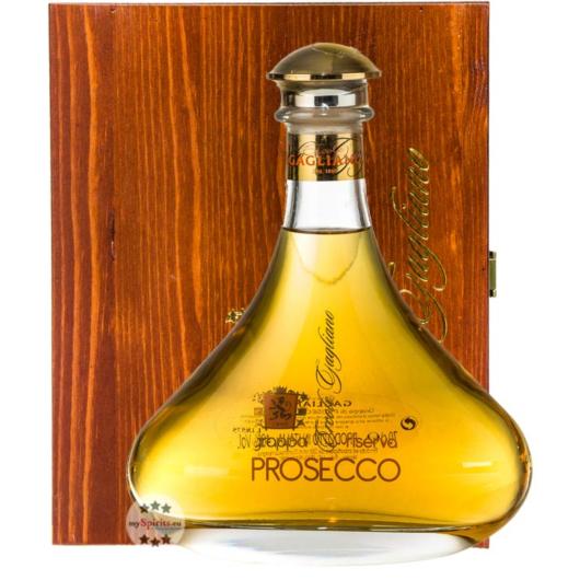 Marcati E. Gagliano Grappa Prosecco Riserva Barrique / 40 % Vol. / 0,7 Liter-Flasche in Holzbox