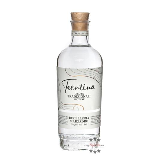Marzadro: La Trentina Tradizionale Grappa giovane / 41 % Vol. / 0,7 Liter-Flasche