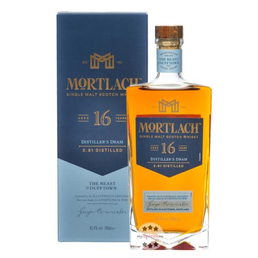 Mortlach 16 Jahre Single Malt Scotch Whisky / 43,4 % Vol. / 0,7 Liter-Flasche in Geschenkschachtel