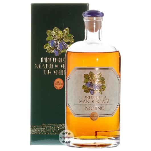 Nonino: Prunella Mandorlata Nonino - Pflaumenlikör / 33 % vol. / 0,7 L Flasche im Geschenk-Karton