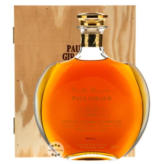 Paul Giraud Cognac Vieille Reserve Carafe Helianthe / 40 % Vol. / 0,7 Liter-Karaffe in Holzkiste