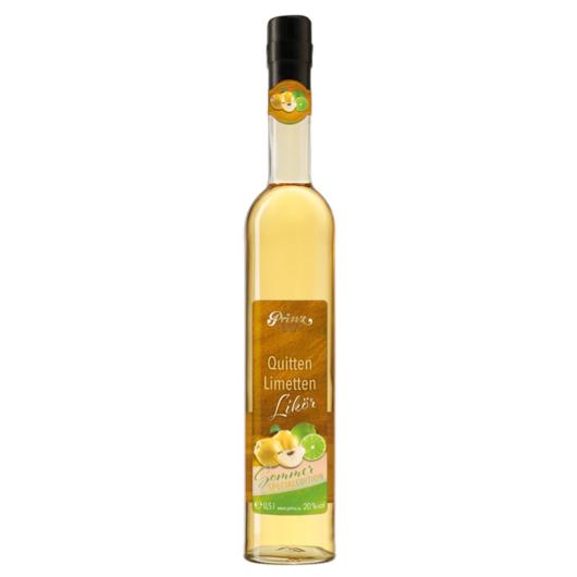 Prinz Quitten-Limetten Likör Sommer Special Edition / 20 % Vol. / 0,5 Liter-Flasche