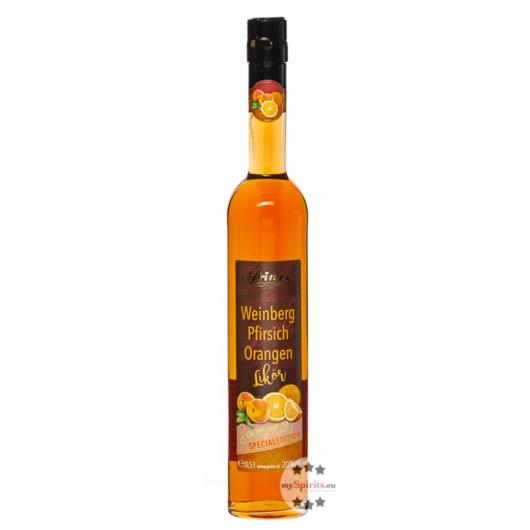 Prinz Weinberg-Pfirisch-Orangen-Likör / 20 % Vol. / 0,5 Liter-Flasche