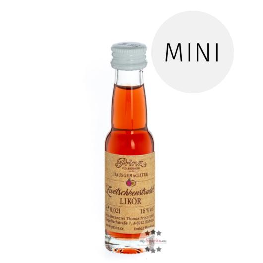 Prinz: Zwetschkenstrudel Likör Miniatur / 16 % Vol. / 0,02 Liter-Flasche
