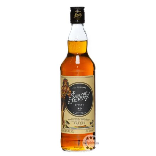 Sailor Jerry Spiced - Spirituose auf Rum-Basis mit Gewürzen / 40 % Vol. / 0,7 Liter-Flasche