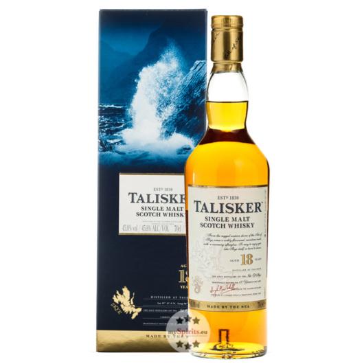 Talisker Aged 18 Years – Single Malt Scotch Whisky / 45,8 % vol. / 0,7 Liter-Flasche in Geschenk-Box