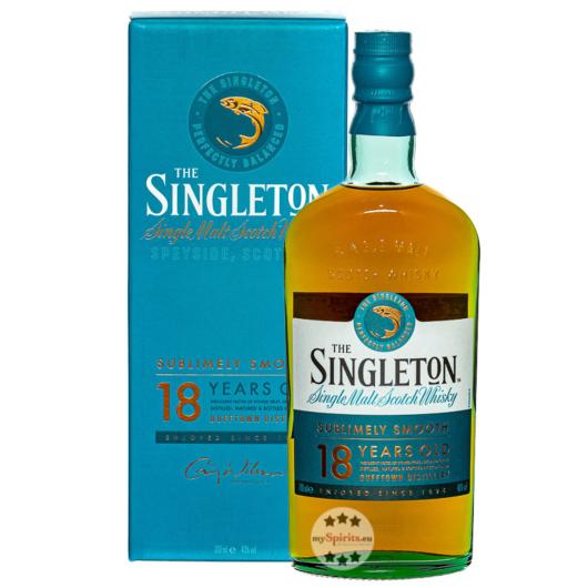 The Singleton of Dufftown 18 Years Single Malt Scotch Whisky / 40 % Vol. / 0,7 Liter-Flasche