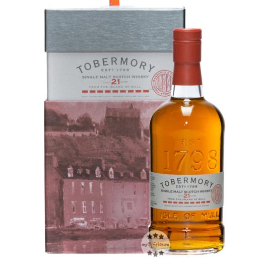 Tobermory Manzanilla 21 Jahre Single Malt Scotch Whisky / 53,8 % Vol. / 0,7 Liter-Flasche in Geschenkbox