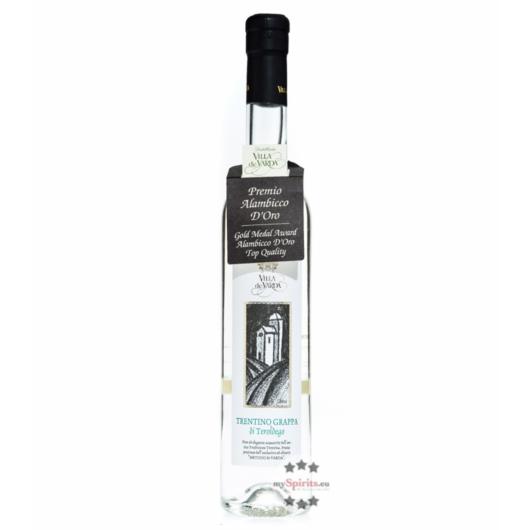 Villa de Varda Grappa Teroldego Mezzolitro / 40% Vol. / 0,5 Liter-Flasche