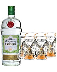 Gin Tonic Set: Tanqueray Gin Rangpur (41,3 % Vol. / 1,0 Liter) + 10 x 1724 Tonic Water (0,2 Liter) inkl. 2,50 €