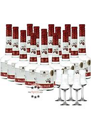 Unterthurner Waldler Original - Sparpaket / 39 % vol. / 15 x 0,7 L Flasche + 5 x Schnapskelch
