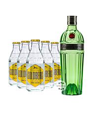 Tanqueray No. 10 Gin (47,3% Vol., 0,7 L) & 5 x Goldberg Tonic Water (0,2 L) inkl. 0,50€ Pfand