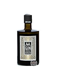 AA GIN Dry Gin Aroser Allee Berlin / 43 % Vol. / 0,5 Liter-Flasche