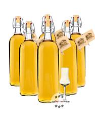 Prinz: Alte Kirsche Kombi / 41 % Vol. / 6 x 1,0 Liter-Flasche + 1 x mySpirits Schnapskelch