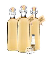 Prinz: Alte Williamsbirne Kombi / 41 % Vol. / 3 x 1,0 Liter-Flaschen + 0,02 Liter-Miniatur