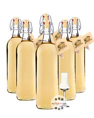 Prinz: Alte Williamsbirne Kombi / 41 % Vol. / 3 x 1,0 Liter-Flaschen + 1 x mySpirits-Schnapskelch