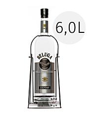 Beluga Noble Russian Vodka / 40 % Vol. / 6,0 Liter-Flasche in Metallhalterung