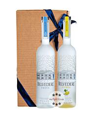 Geschenk-Set: Belvedere Vodka (40 % Vol. / 0,7 L) + Belvedere Citrus Vodka (40 % Vol. / 0,7 L) in Geschenkbox