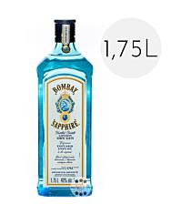 Bombay Sapphire London Dry Gin / 40 % Vol. / 1,75 Liter-Flasche