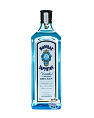 Bombay Sapphire London Dry Gin – Cocktail-Gin / 40 % Vol. / 1,0 Liter-Flasche
