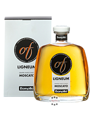 Bonollo: Grappa of Ligneum Invecchiata Moscato / 42% Vol. / 0,7 Liter-Flasche in Geschenkkarton