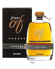 Bonollo: Grappa of Vintage Sei Stelle Amarone Barrique / 42 % Vol. / 0,7 Liter-Flasche in Geschenkkarton