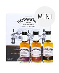 Bowmore Distillers Collection Probierset mit Whisky-Minis - 12, 15, 18 Jahre / 40 & 43 % Vol. / 3 x 0,05 Liter in Geschenkbox